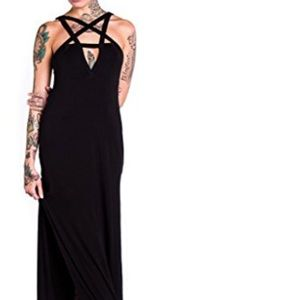 Killstar Pentagram Maxi Dress XXL